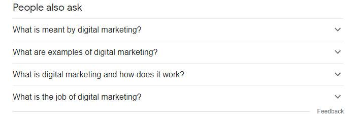 سوالات مرتبط (Related Questions) در نتایج گوگل