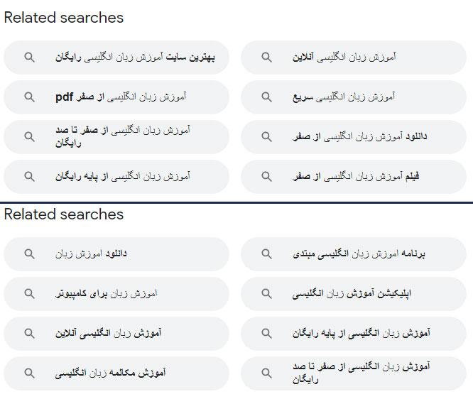 استفاده از گوگل برای LSI
