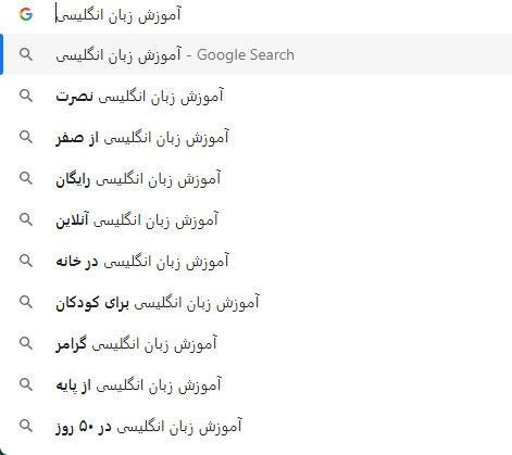 گوگل سرچ برای LSI Words