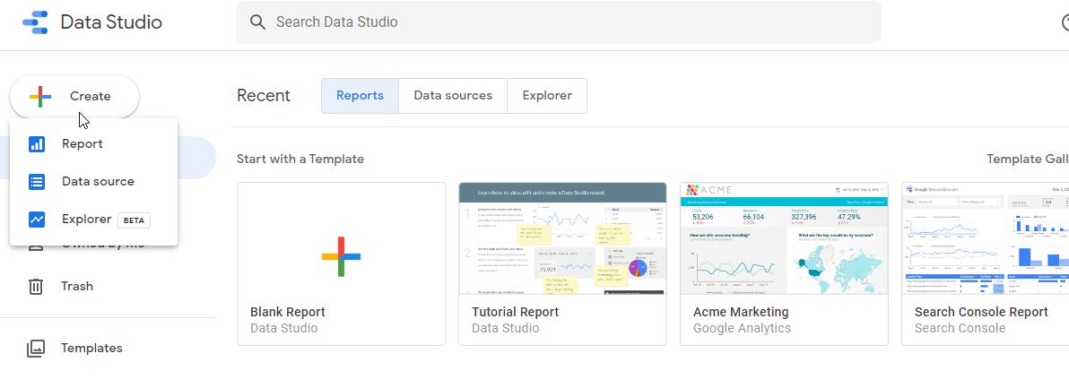 راه اندازی دیتا استودیو گوگل