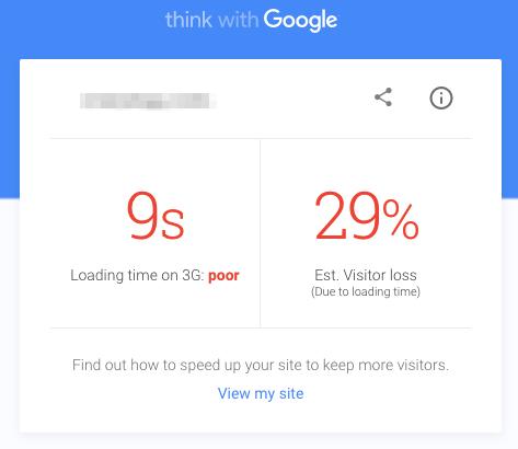 سرعت سایت در موبایل